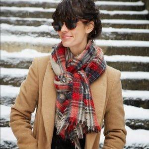 Madewell Winter Scarf in Tartan Plaid